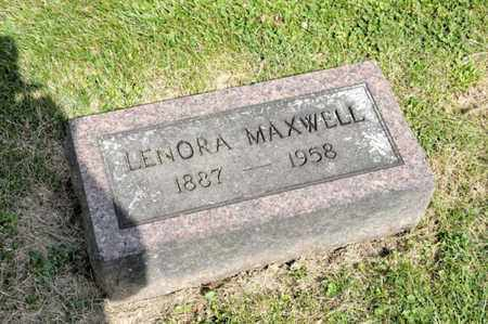 MAXWELL, LENORA - Richland County, Ohio | LENORA MAXWELL - Ohio Gravestone Photos