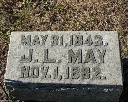 MAY, J L - Richland County, Ohio | J L MAY - Ohio Gravestone Photos
