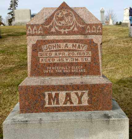 MAY, JOHN A - Richland County, Ohio | JOHN A MAY - Ohio Gravestone Photos