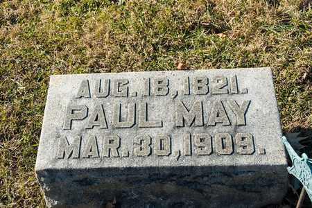 MAY, PAUL - Richland County, Ohio | PAUL MAY - Ohio Gravestone Photos