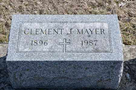 MAYER, CLEMENT J - Richland County, Ohio | CLEMENT J MAYER - Ohio Gravestone Photos