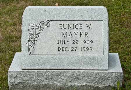 MAYER, EUNICE W - Richland County, Ohio | EUNICE W MAYER - Ohio Gravestone Photos