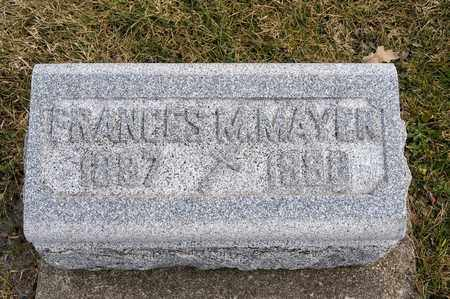MAYER, FRANCES M - Richland County, Ohio | FRANCES M MAYER - Ohio Gravestone Photos