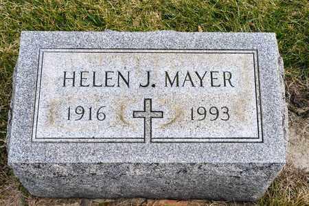 MAYER, HELEN J - Richland County, Ohio | HELEN J MAYER - Ohio Gravestone Photos