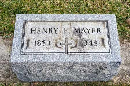 MAYER, HENRY E - Richland County, Ohio | HENRY E MAYER - Ohio Gravestone Photos