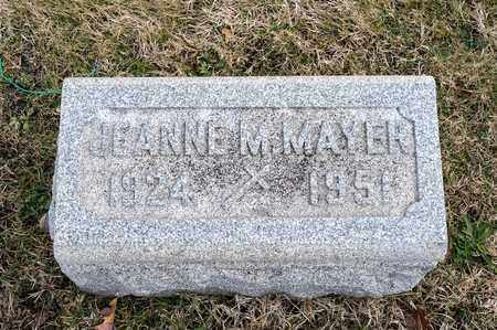 MAYER, JEANNE M - Richland County, Ohio | JEANNE M MAYER - Ohio Gravestone Photos