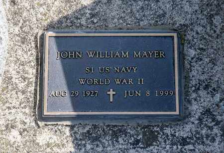 MAYER, JOHN WILLIAM - Richland County, Ohio | JOHN WILLIAM MAYER - Ohio Gravestone Photos