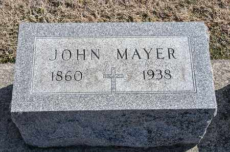 MAYER, JOHN - Richland County, Ohio | JOHN MAYER - Ohio Gravestone Photos