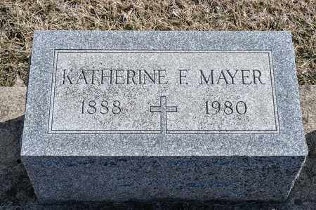 MAYER, KATHERINE F - Richland County, Ohio | KATHERINE F MAYER - Ohio Gravestone Photos