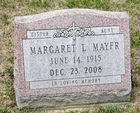 MAYER, MARGARET L - Richland County, Ohio | MARGARET L MAYER - Ohio Gravestone Photos