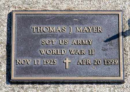 MAYER, THOMAS J - Richland County, Ohio | THOMAS J MAYER - Ohio Gravestone Photos