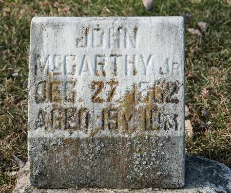 MCCARTHY JR, JOHN - Richland County, Ohio | JOHN MCCARTHY JR - Ohio Gravestone Photos