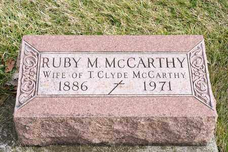 MCCARTHY, RUBY M - Richland County, Ohio | RUBY M MCCARTHY - Ohio Gravestone Photos