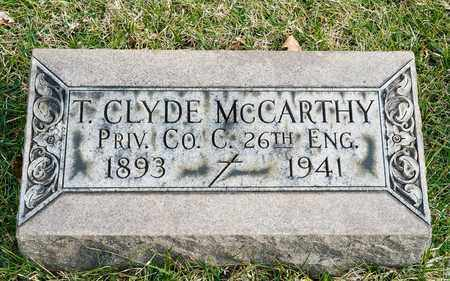MCCARTHY, T CLYDE - Richland County, Ohio | T CLYDE MCCARTHY - Ohio Gravestone Photos
