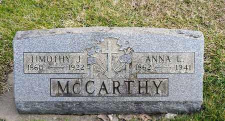 MCCARTHY, ANNA L - Richland County, Ohio | ANNA L MCCARTHY - Ohio Gravestone Photos