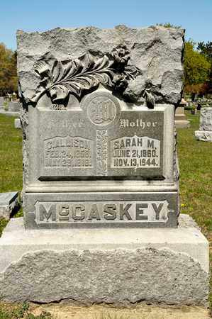 MCCASKEY, SARAH M - Richland County, Ohio | SARAH M MCCASKEY - Ohio Gravestone Photos