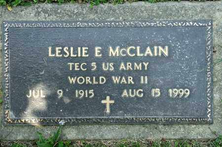 MCCLAIN, LESLIE E - Richland County, Ohio | LESLIE E MCCLAIN - Ohio Gravestone Photos