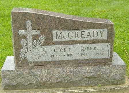 MCCREADY, MARJORIE I. - Richland County, Ohio | MARJORIE I. MCCREADY - Ohio Gravestone Photos