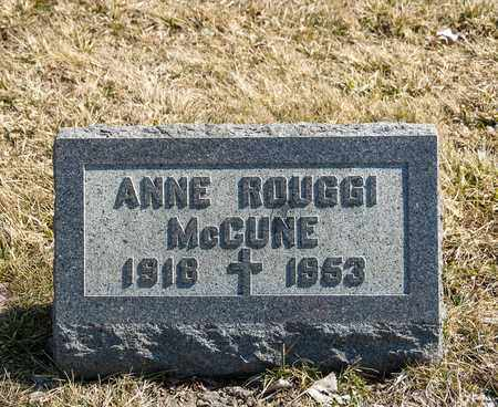 ROUGGI MCCUNE, ANNE - Richland County, Ohio | ANNE ROUGGI MCCUNE - Ohio Gravestone Photos