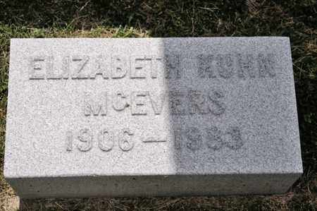 KUHN MCEVERS, ELIZABETH - Richland County, Ohio | ELIZABETH KUHN MCEVERS - Ohio Gravestone Photos