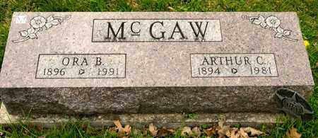 MCGAW, ARTHUR C - Richland County, Ohio | ARTHUR C MCGAW - Ohio Gravestone Photos
