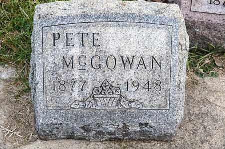 MCGOWAN, PETE - Richland County, Ohio | PETE MCGOWAN - Ohio Gravestone Photos