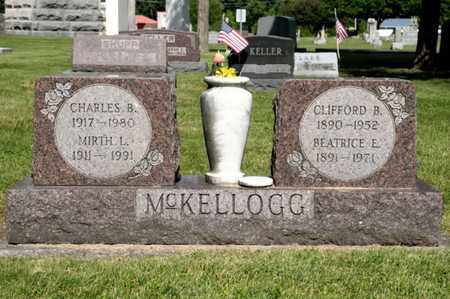 MCKELLOGG, CLIFFORD B - Richland County, Ohio | CLIFFORD B MCKELLOGG - Ohio Gravestone Photos