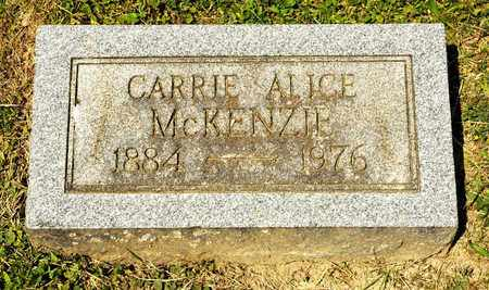 MCKENZIE, CARRIE ALICE - Richland County, Ohio | CARRIE ALICE MCKENZIE - Ohio Gravestone Photos
