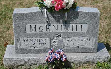 MCKNIGHT, AGNES ROSE - Richland County, Ohio | AGNES ROSE MCKNIGHT - Ohio Gravestone Photos
