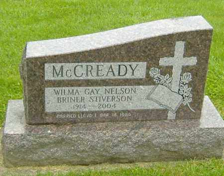 NELSON MCREADY-BRINER-STIVERSO, WILMA GAY - Richland County, Ohio | WILMA GAY NELSON MCREADY-BRINER-STIVERSO - Ohio Gravestone Photos