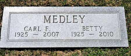 MEDLEY, CARL F - Richland County, Ohio | CARL F MEDLEY - Ohio Gravestone Photos