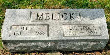 MELICK, MILO H - Richland County, Ohio | MILO H MELICK - Ohio Gravestone Photos