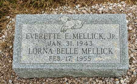 MELLICK JR, EVERETTE E - Richland County, Ohio | EVERETTE E MELLICK JR - Ohio Gravestone Photos