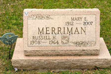MERRIMAN, MARY E - Richland County, Ohio | MARY E MERRIMAN - Ohio Gravestone Photos