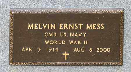 MESS, MELVIN ERNST - Richland County, Ohio | MELVIN ERNST MESS - Ohio Gravestone Photos