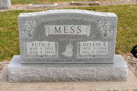 MESS, RUTH E - Richland County, Ohio | RUTH E MESS - Ohio Gravestone Photos