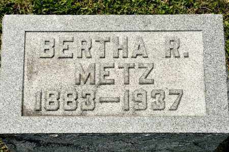 METZ, BERTHA R - Richland County, Ohio | BERTHA R METZ - Ohio Gravestone Photos
