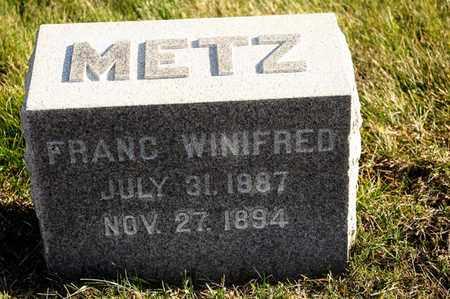 METZ, FRANC WINIFRED - Richland County, Ohio | FRANC WINIFRED METZ - Ohio Gravestone Photos