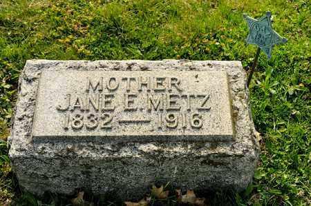 METZ, JANE E - Richland County, Ohio | JANE E METZ - Ohio Gravestone Photos
