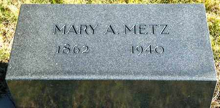METZ, MARY A - Richland County, Ohio | MARY A METZ - Ohio Gravestone Photos