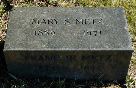 METZ, MARY S - Richland County, Ohio | MARY S METZ - Ohio Gravestone Photos
