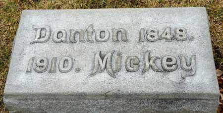 MICKEY, DANTON - Richland County, Ohio | DANTON MICKEY - Ohio Gravestone Photos