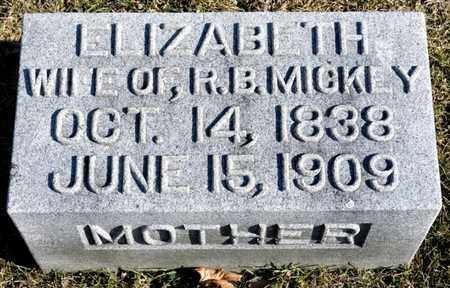 MICKEY, ELIZABETH - Richland County, Ohio | ELIZABETH MICKEY - Ohio Gravestone Photos