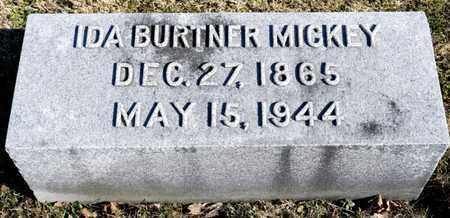 BURTNER MICKEY, IDA - Richland County, Ohio | IDA BURTNER MICKEY - Ohio Gravestone Photos