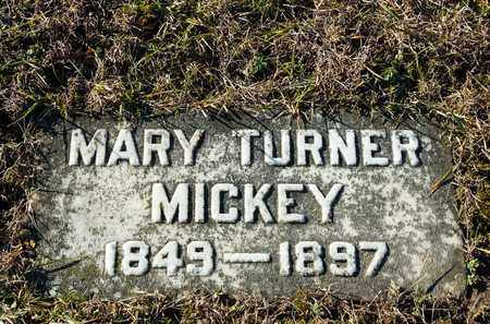 TURNER MICKEY, MARY - Richland County, Ohio | MARY TURNER MICKEY - Ohio Gravestone Photos