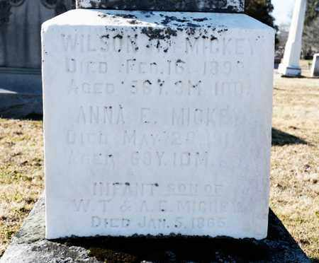MICKEY, WILSON - Richland County, Ohio | WILSON MICKEY - Ohio Gravestone Photos