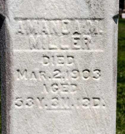 MILLER, AMANDA M - Richland County, Ohio | AMANDA M MILLER - Ohio Gravestone Photos
