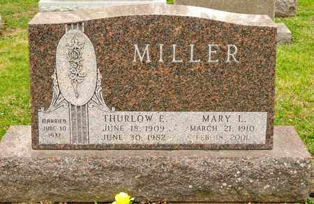MILLER, THURLOW E - Richland County, Ohio | THURLOW E MILLER - Ohio Gravestone Photos
