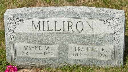 MILLIRON, FRANCES K - Richland County, Ohio | FRANCES K MILLIRON - Ohio Gravestone Photos