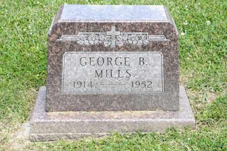 MILLS, GEORGE B - Richland County, Ohio | GEORGE B MILLS - Ohio Gravestone Photos